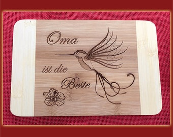 Grandma is the best Hummingbird breakfast Board with engraving