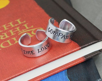 Doctor Who Ring Set - Time Lord Companion - Couple