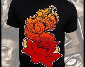 Good Fortune Snake Tattoo Art T-Shirt