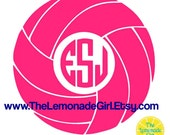 VOLLEYBALL DECAL, Personalized Volleyball, Volleyball Sticker, Indoor Volleyball, Volleyball Player, Beach Volleyball, Monogram Volleyball