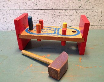 Vintage Toy Playskool Cobblers Bench 1950's 1960's