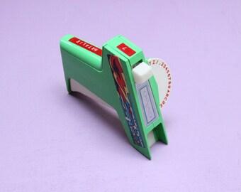 Retro Green Dymo Label Maker *FREE SHIPPING* Vintage Handheld Label Printer Office Supplies