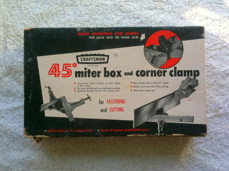 Get Shipping Estimate & Sears Corner Clamp Vintage Corner Clamp Miter Box Sears and ... Aboutintivar.Com