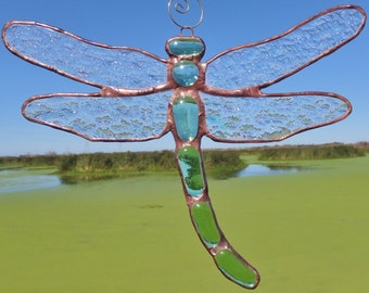 Stained Glass Dragonfly Sun-catcher