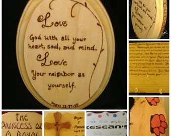 Handcrafted Wood Plaques, Bowls, and Boxes