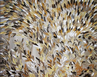 "Original Modern Abstract Texture Palette Knife Acrylic Painting ""SPIKELETS""."