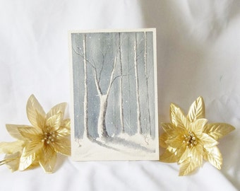 Winter Forest OOAK Painting by Audrey F. Medford