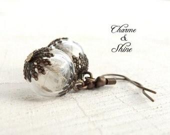 Real Dandelion Earrings, Make a Wish Earrings, Nostalgic Dandelion Earrings