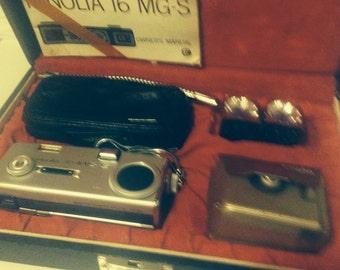 Minolta 16 MGS Subminiature Camera 16MM Original Case