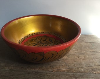 Russian Khokhloma Toleware Bowl