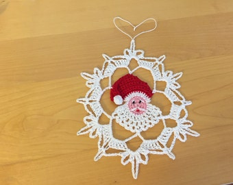 Santa Snowflake pattern/not a finished product - no refund