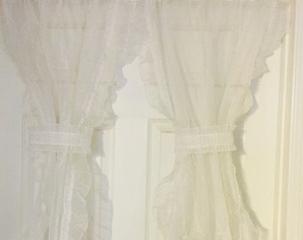 Cute Sheer White Dotted Curtains