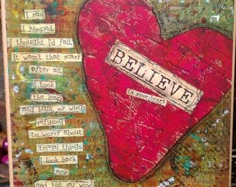 Believe in Your Heart Art Card