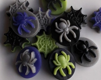 Halloween Party Favors - Halloween Favors, Spider Soap, Halloween Soap Favors, Class Favors, Schoool Favors, Non Candy Treat - Set of 10