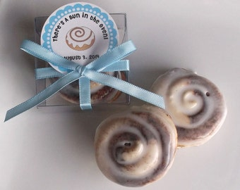 Bun in the Oven Baby Shower Favors - Cinnamon Bun Soap, Bun in the Oven Shower Favors, Party Favors - Set of 20