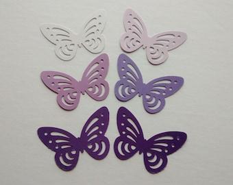 30 big paper butterflies die cut cut out confetti scrapbook embellishments purple paper butterflies wedding confetti party birthday shower