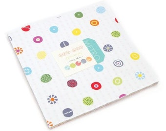 ON SALE - Layer cake fabric, Hey Dot by Zen Chic, quilters cotton, fabric, modern fabric, patchwork fabric. Colorful spring colors.