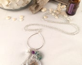 "30"" Diffuser Necklace with Amethyst Charms"