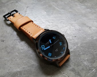 Handmade Natural Leather Watch (Vegetable Tanned Leather)