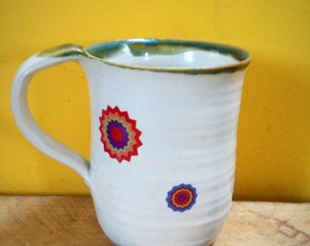 Retro space mug stoneware  ceramic