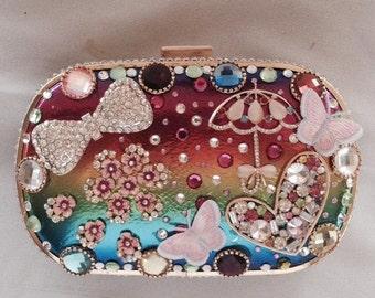 Small Crystal embellished handbag, evening clutch