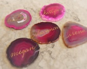 Agate Stone Name Tags, Place Cards, Placecards