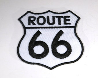 "Iron-on ""Route 66"", applique, application (P109)"