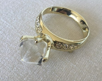 CLEARANCE Sale Giant Ring Brooch