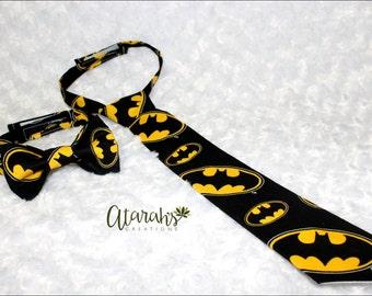 DC Comics  Batman Tie / Batman Bow tie / Cake Smash Batman / Made in USA