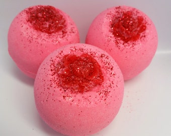 Victorian Rose, Bath Bomb, Pink, Women, Gift, Mother's Day, Relaxing, Floral, Vintage, Bathe, Fizzy, Relax, Pamper, Soaking, Aroma, Scent