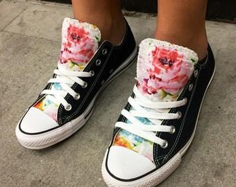 Floral Converse Shoes