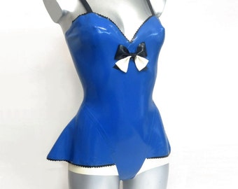 Latex Body with peplum side panels