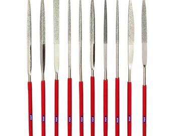 140mm Diamond Needle File Set 10 Pcs 180 Grit Jewelry Filing Hard  Materials  Wa 301-041