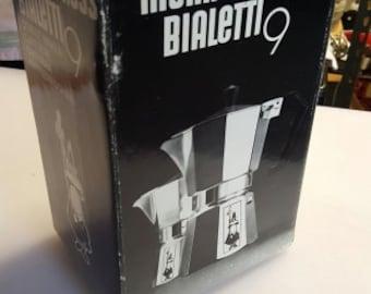Bialetti 9 Cup Moka Express Cappuccino Stovetop Espresso Maker Coffee Pot Italy