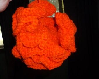 Bath Pouf in orange