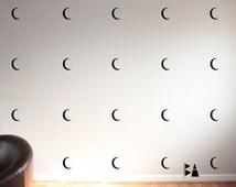 Nursery Decals. Moon Decals. Halloween Wall Decals. Nursery decor. Wall sticker. Home decor decals. Bedroom Decals.