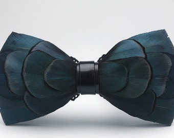 Real Feathers Handmade Bowtie bow tie