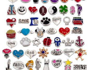 Rubyca Mix Floating Charms for Living Memory Lockets  CollectionFree Shipping #L-FLTCHR-Mix6