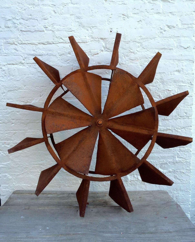 Large Fan Blades : Large vintage fan windmill industrial blades