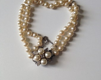 Beautiful lovely state pearl bracelet Agatha collector