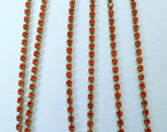 Chain 2mm precious strass (ss6, 5) hyacint color. Unid, 0, 50m