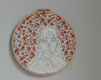Decorative illustration art hoop