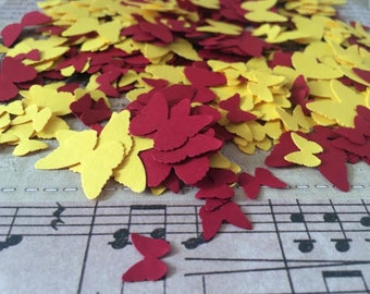 Marigold and Maroon Butterfly Confetti - paper vegan handmade party
