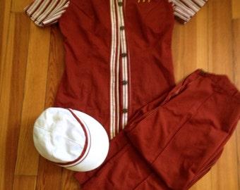 vintage 1970s mcdonalds uniform , womens, complete with cap