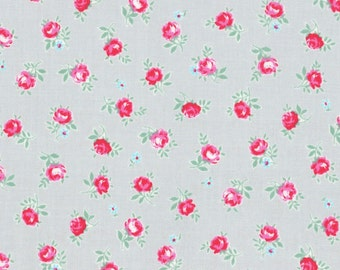 Sale - Lecien Flower Sugar Spring 2015, Small Roses on Gray, Japanese Fabric 31131 90