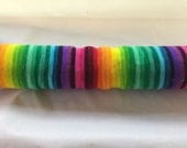 100 grams The Big One Gradient 24 Coloured Rainbow hand dyed sock yarn