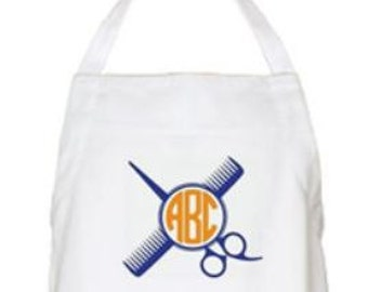 Hairstylist Apron - Cosmetology Apron - Barber Apron - Monogrammed Aprons for Stylists - The Applewood Lane