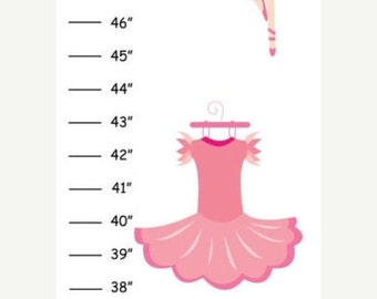 ON SALE Personalized Ballet Canvas Growth Chart