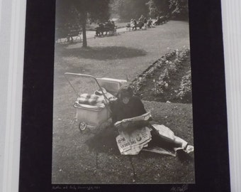 Signed 16x20 A.E. Woolley Photograph  -Vintage, 1963