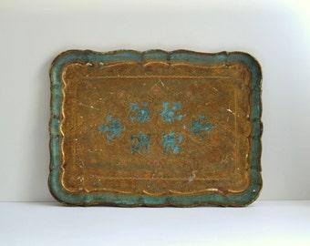 Venetian tray vintage shabby chic